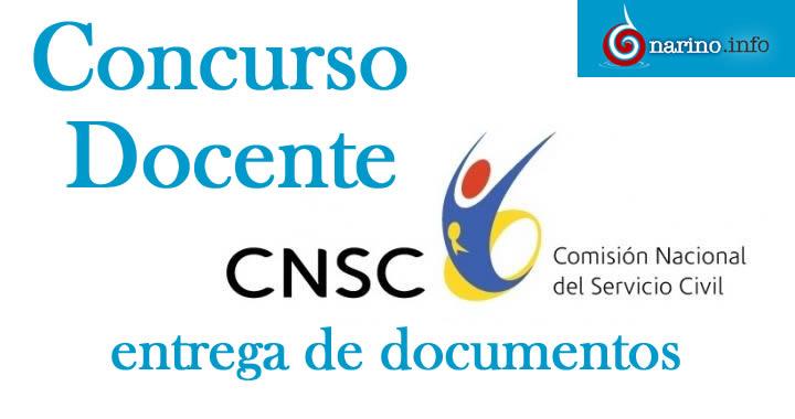 Cnsc solicita documentos a docentes y directivos que for Concurso docentes