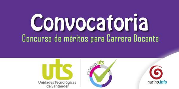 Unidades tecnol gicas de santander abren concurso de for Concurso meritos docentes 2016