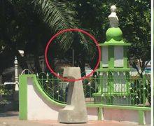 De pleno Parque Nariño se robaron estatua de Yolanda Cerón