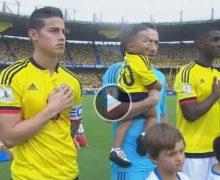 El angustioso momento que vivieron James y David Ospina durante el himno nacional