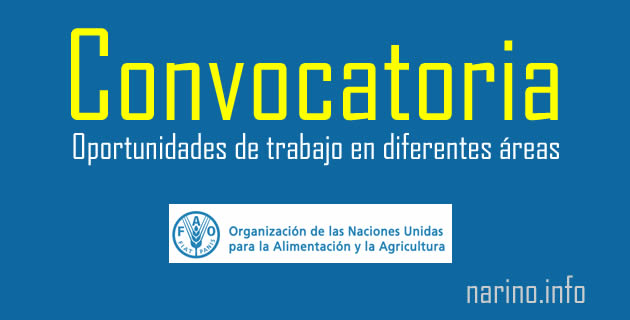 FAO Colombia abre convocatoria