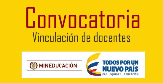 Ministerio de educaci n abre convocatoria para vincular for Convocatoria para docentes