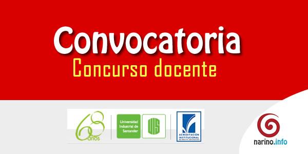 Universidad industrial de santander abre concurso docente for Convocatoria concurso docente 2016