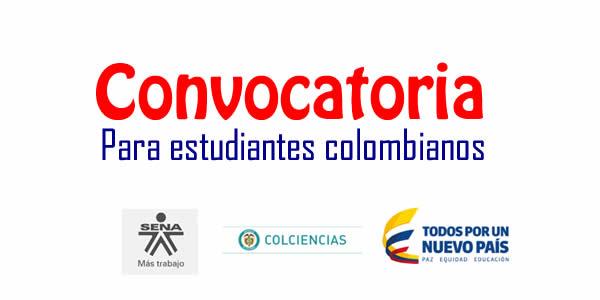 Colciencias y sena abren convocatoria para estudiantes de for Convocatorias para profesores 2016