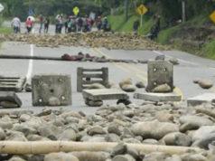 paro indígena en el Cauca