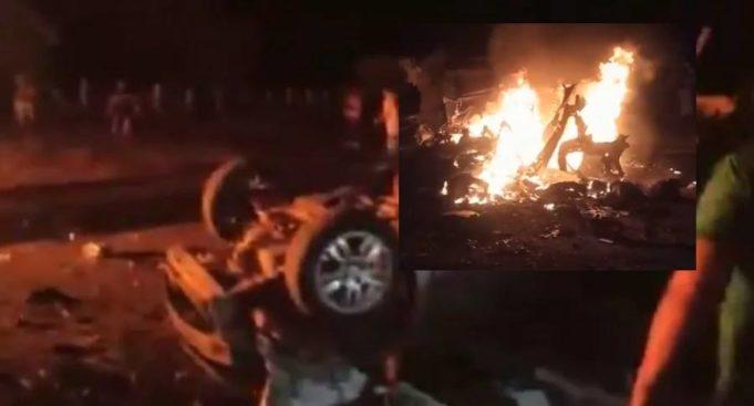 Carro Bomba que explotó en el Cauca