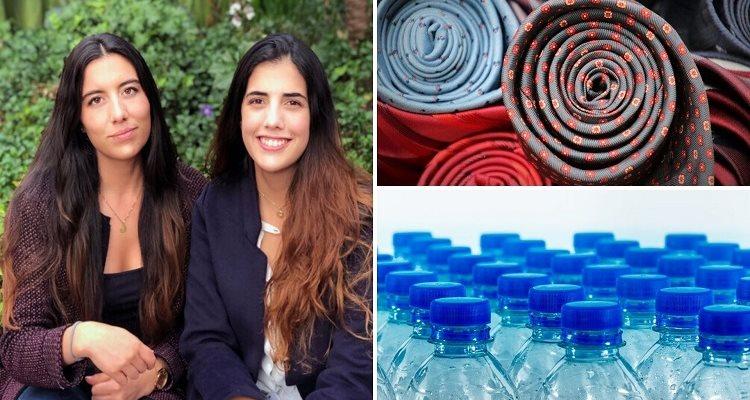 telas de poliéster y algodón a partir de botellas