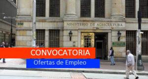 CONVOCATORIA MinAgricultura