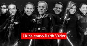 Uribe como Darth Vader