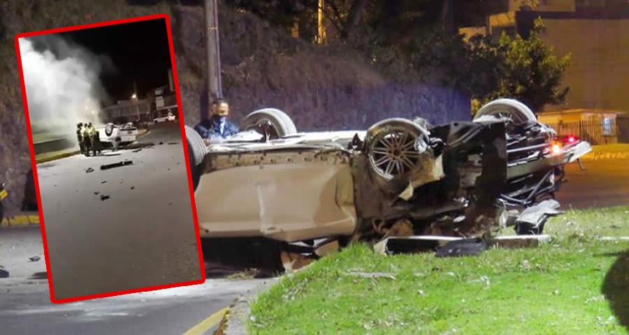 accidente del carro BMW