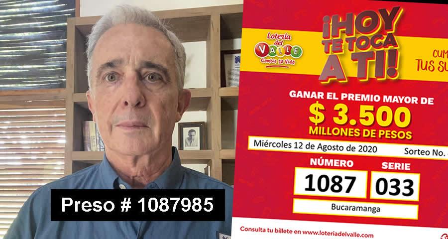 preso de Álvaro Uribe Veléz