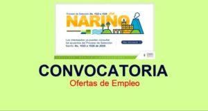 Convocatoria pública Territorial Nariño