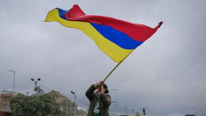 Bandera de Colombia al revés