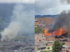 incendio en Barrio Caicedo de Pasto
